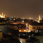 Night view from roof terrace