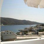 vue de notre chambre baie de Katapola