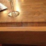 Une table du bar