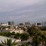 View of Sarasota, walking not recommended, Left side of hotel from marina
