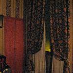 Curtain and window Room 215