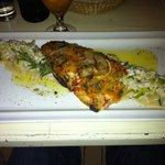 Fisch auf Spargelrisotto