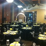 Sunflower Room decorated for event