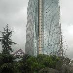 Hotel Ritz Carlton from the road along the Bosporus.