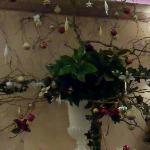 Décoration de Noël dans un salon