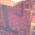 this table where we were put did not need a beer mat for the wobble- another foot would help!!!