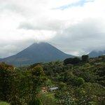 Arenal Volcano from Hotel (Cabinas) El Castillo