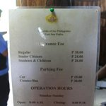 Entrance Fee @ Fort San Pedro (12/07/2012)