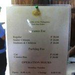 Entrance Fee @ Fort San Pedro (12/07/2012)