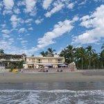 ocean, beach, Castilo Chulada & sky