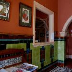 Victoria and Albert Guesthouse reception area.