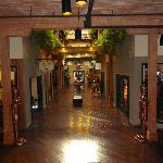 Shops in lobby area
