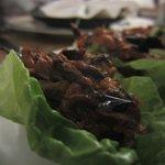 Eggplant lettuce wraps that we cooked- amazing!