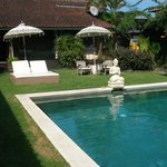 Big Hotel Pool and view to Villa Jogglo / old Javanese style
