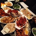 assorted main dishes