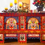 Austrian hand=painted cabinet