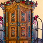 Baroque styled antique Austrian armoire with sleigh