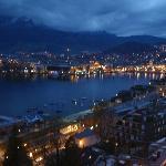 Luzern (at night) - view from room balcony.