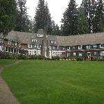 View of back, Lake Quinault is behind