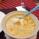 A fabulous bowl of Masaman Thai Curry from Summer Breeze Hotel.