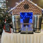 Cute Gingerbread House and mulled wine display in the lobby-nice touch!