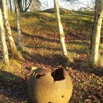 Remnant of old cannon shell, Hill 60, Ieper (Ypres)