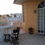hotel room and balcony