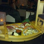 Our sushi boat @ Watatsumi...:)