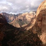 A morning canyon view in Zion NP, UT.