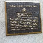 Historical sign for the hotel