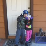 Our kids getting ready to go on our hike:)