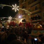 Iluminacion nocturna de fiestas