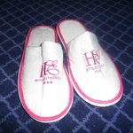 Complimentary slippers