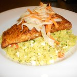 Grilled Salmon over Mediterranean Couscous
