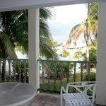 View from within restaurant, Taino Beach