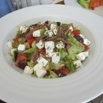 greek salad at mosque