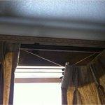 Broken curtain closure