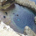 Blue Hole at Azure Window, San Lawarenz, Gozo