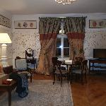 View of sitting room from entrance doorway