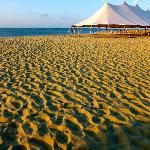 The beach w/ wedding tent