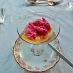 A lovely tradition ... a sorbet between appetizer & entrée.