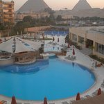 View from our room at the Le Meridien Pyramids