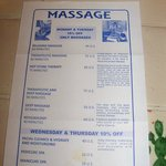 The hotel offers massage