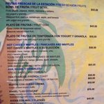 Menu from La Playita