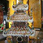 Amazing gingerbread house greets you as you enter.