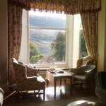 High tea in library/drawing room