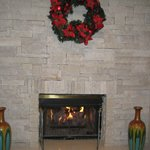 Lobby fireplace--great place to warm up.