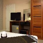 Room facilities (Flat screen TV, refrigerator, air condition and warm shower)