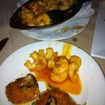 Shrimp & Garlic an clams casino