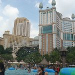 view of Sunway & pyramid hotels from sunway lagoon